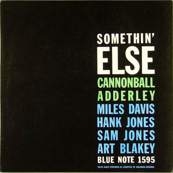 Somethin' Else By Cannonball Adderley