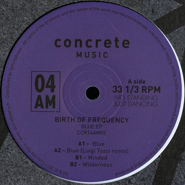 Birth Of Frequency ‎– Blue EP