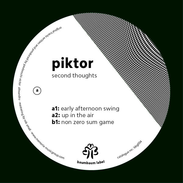 Piktor ‎– Second Thoughts EP [Baumbaum Label] (VINYL ONLY)