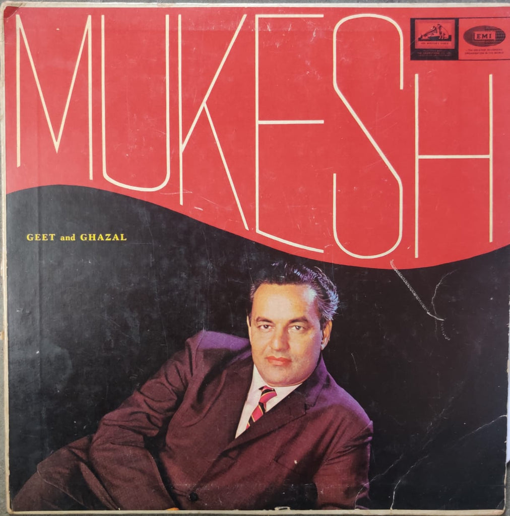 Mukesh ‎– Geet And Ghazal  (Used Vinyl )  VG