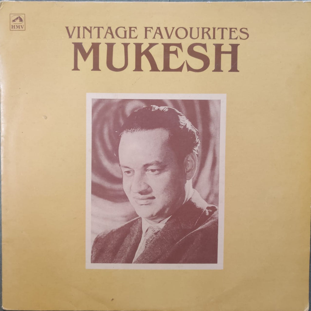 Mukesh ‎– Vintage Favourites (used Lp) VG