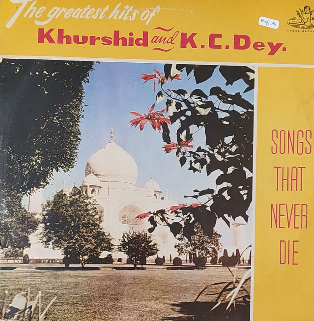 Songs That Never Die - Khurshid & K.C Dey (Used Vinyl) VG