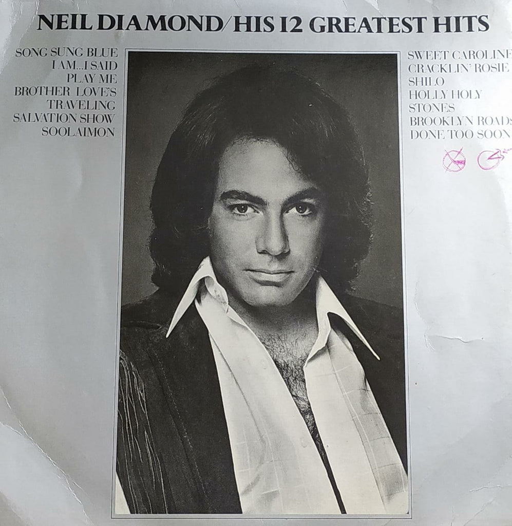 His 12 Greatest Hits - Neil Diamond ‎ (Used Vinyl) VG
