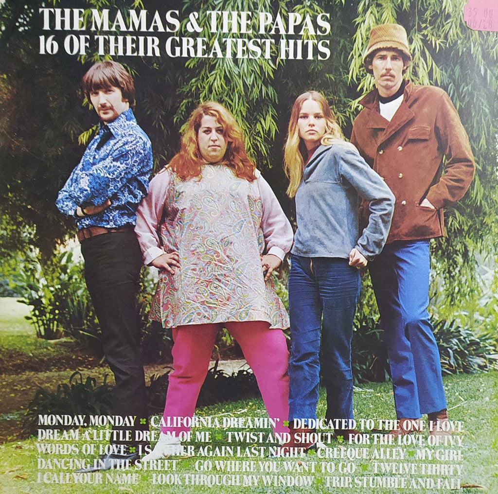 16 Of Their Greatest Hits  ‎– The Mamas & The Papas(Used Vinyl)  VG
