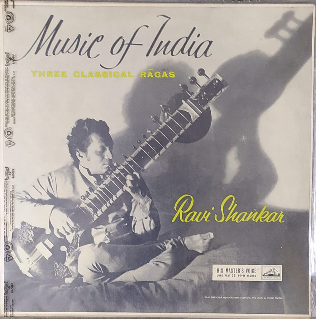 Ravi Shankar ‎– Music Of India - Three Classical Ragas On Sitar (Used Vinyl) VG