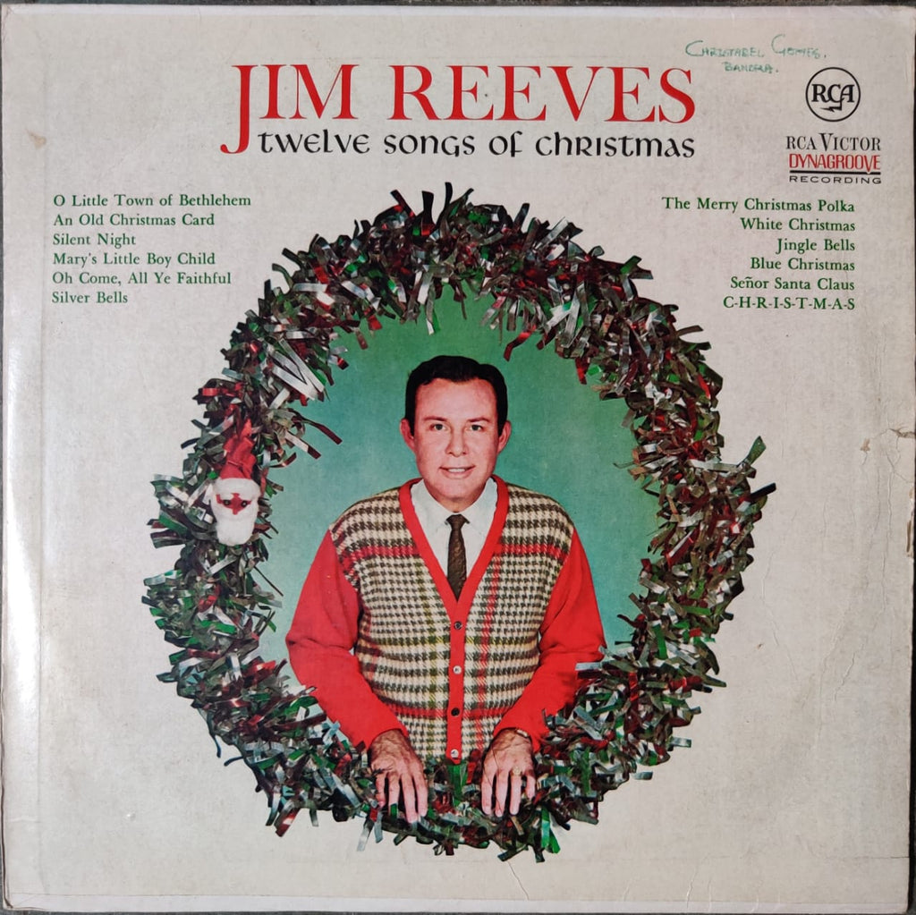 Jim Reeves ‎– Twelve Songs Of Christmas (Used Lp) G