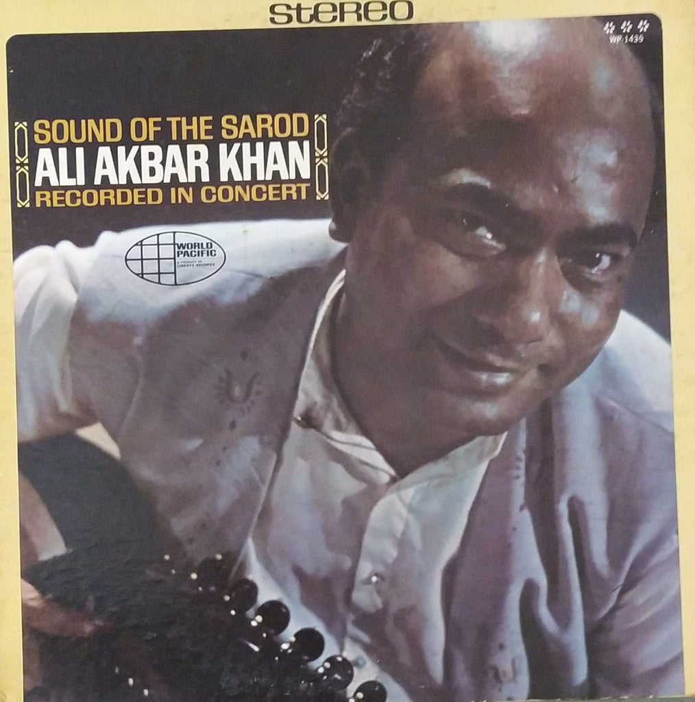 Sound of the Sarod by Ali Akbar Khan Recorded in concert (Used Vinyl) VG