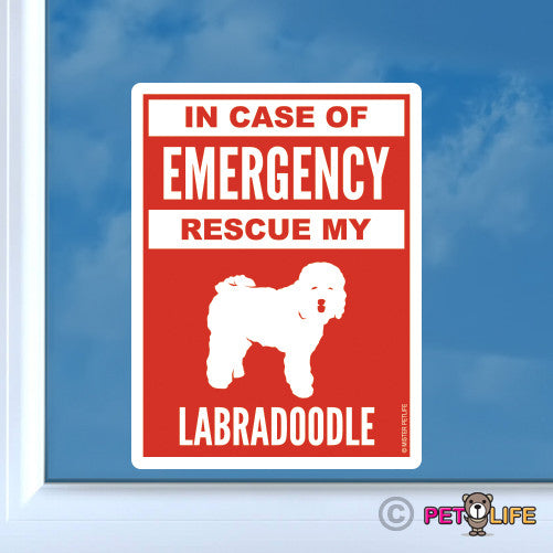 In Case of Emergency Rescue My Labradoodle Sticker