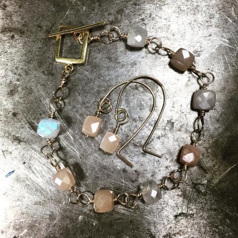 Custom Earrings and Bracelet for CG