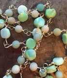 Delicate blue opal necklace