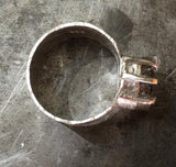 Tourmaline ring,  a perfect storm, edgy and dramatic