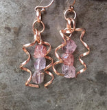 14K rose gold-filled spinel earrings