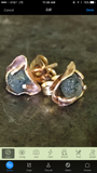 Exquisite Montana sapphire and 14K gold post earrings.