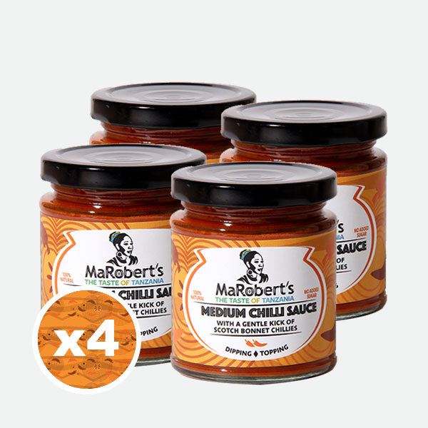 MaRobert's Medium Chilli Sauce X 4