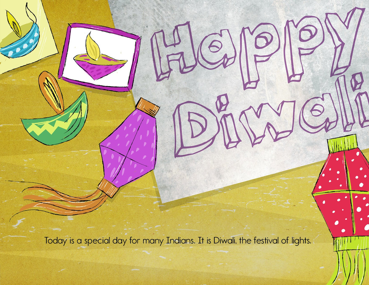 Lets celebrate diwali childrens book by bharat babies