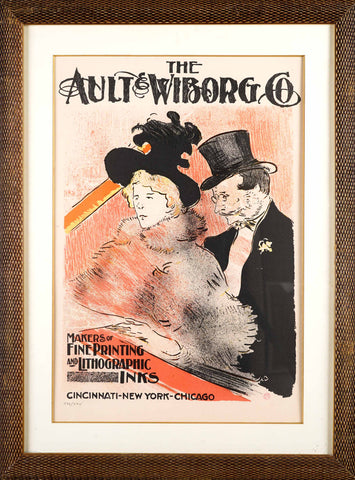 "Toulouse-Lautrec Henri (1864-1901) ""Plakat reklamowy firmy The Ault & Wiborg Co."""