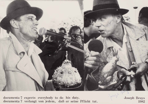 "Beuys Joseph (1921-1986) ""Documenta 7 expects everybody to do his duty"""