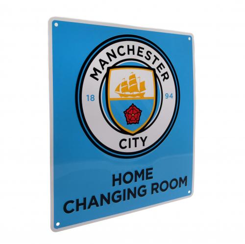 Manchester City F.C. Home Changing Room Sign, Supporter - Accessories, Taylors - Football Galaxy