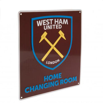 West Ham United F.C. Home Changing Room Sign, Supporter - Accessories, Taylors - Football Galaxy