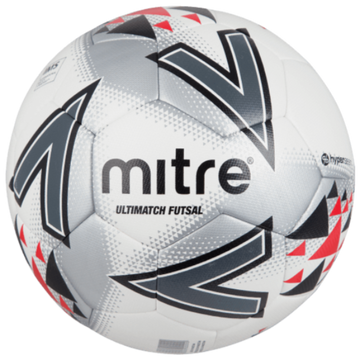 Mitre Ultimatch Futsal Ball - WHT/RED