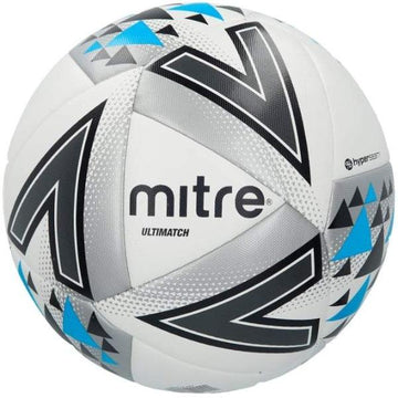 Mitre Ultimatch Football - WHT/BLU
