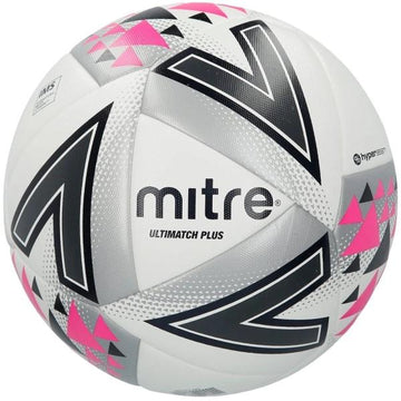 Mitre Ultimatch Plus Football - WHT/PNK