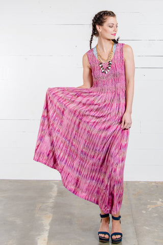 Mara Tie Dye Batik Maxi Dress