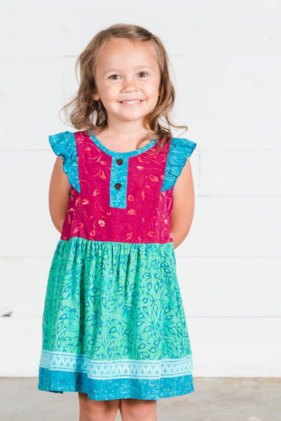 Girls Wynn Batik Dress