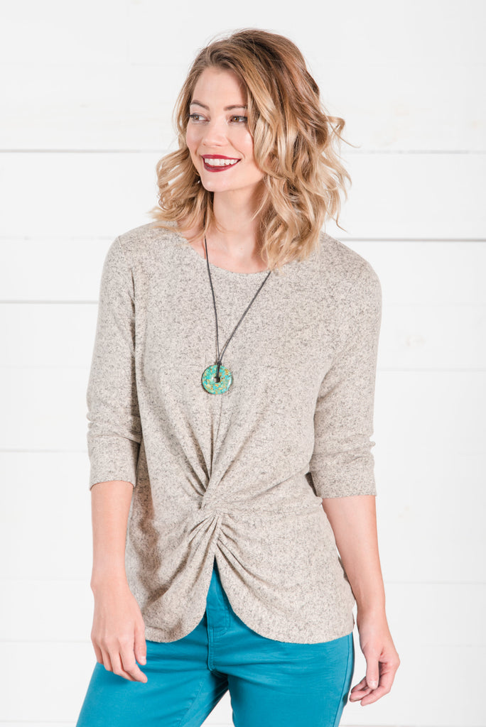 Knotted Sweater Top