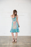 Ruffled Patchwork Batik Dress