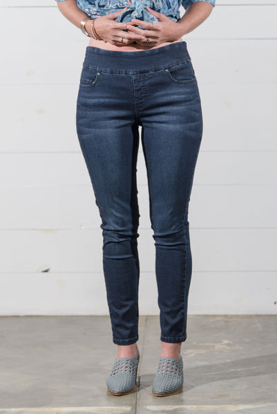 Pull on Dark Denim Jean
