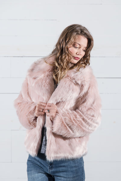 Blush Faux Fur Jacket