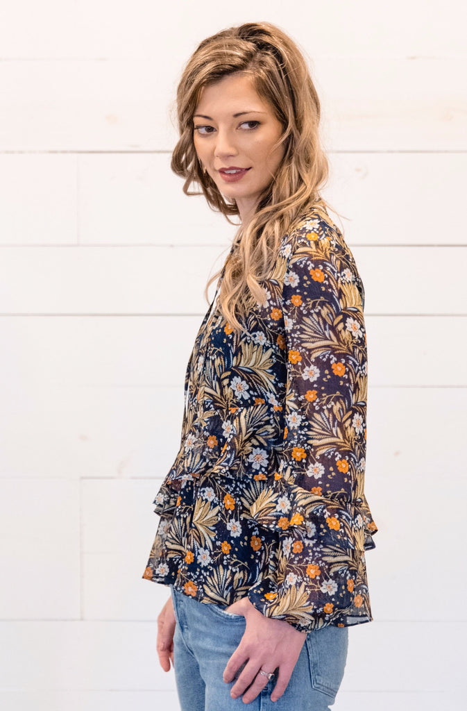 Ruffled Up Floral Blouse