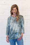 Gathered Up Tie Dye Sweatshirt