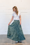 Flounced and Flowy Batik Skirt