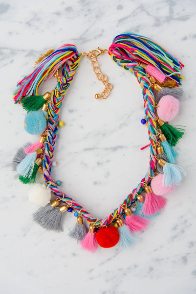 The Pom Pom Tasseled Necklace