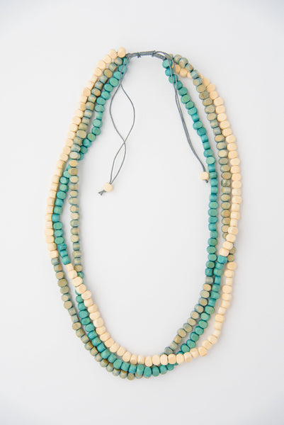 Wooden Bead Layered Necklace
