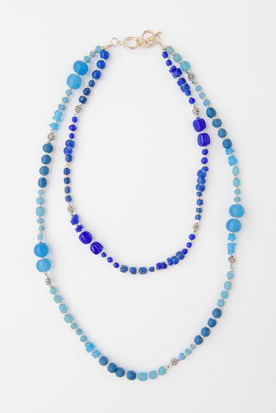 Handmade Glass Bead Layered Necklace