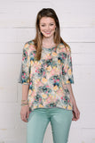 Floral Watercolor Blouse