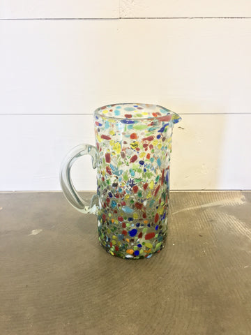 Confetti Glass Pitcher