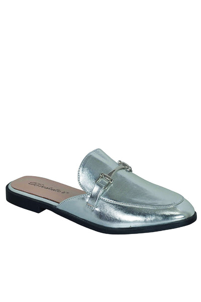 Slip On Oxfords in Silver