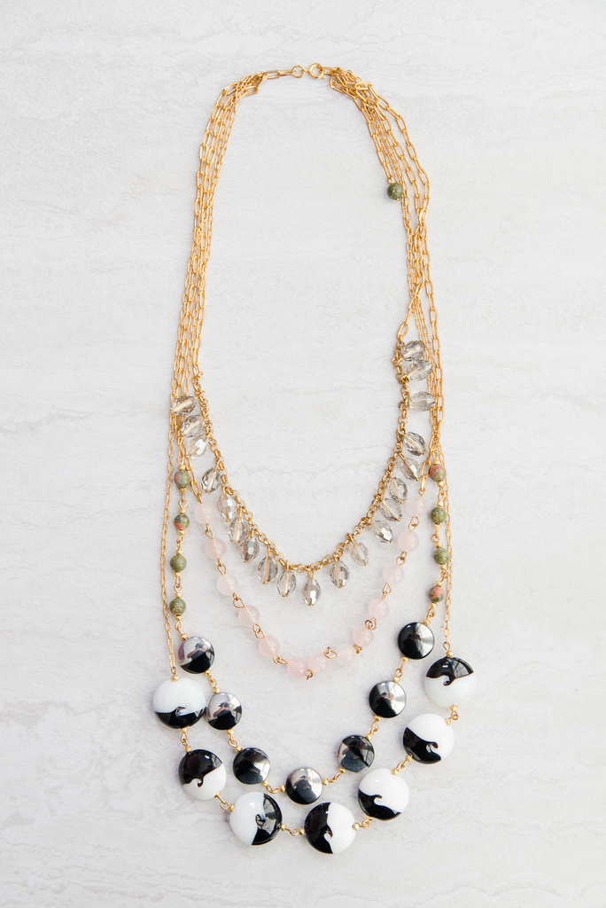 Cascading Stones Necklace