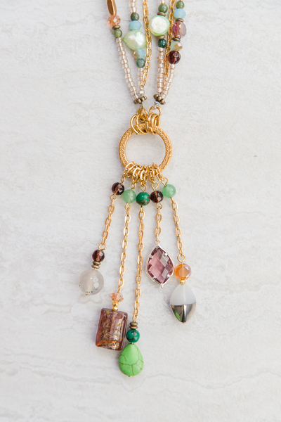 Tasseled and Layered Necklace