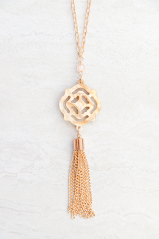 Traveling Tassel Pendant Necklace