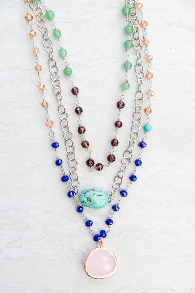 Tiered and Turquoise Layered Necklace