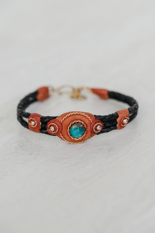 Braided Peru Bracelet with Turquoise