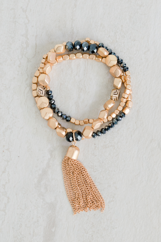 Trio and Tassel Bracelet