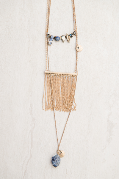 On the Fringe Tiered Necklace