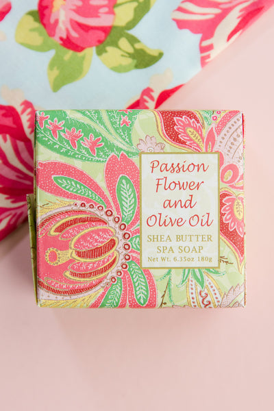 Passion Flower + Olive Oil Large Soap