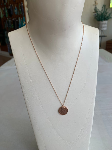 Rose Gold Penny Necklace
